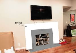state fireplace decorating then hang tv over fireplace family room