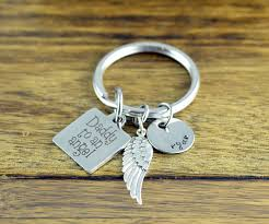 Remembrance Keychain Daddy To An Angel Keychain Memorial Keychain Remembrance