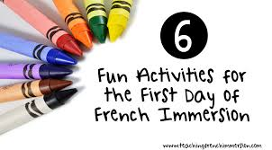 French Thanksgiving Activities Six Fun First Day Of Activities For French Immersion