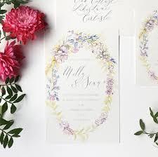 spring flower wedding invitations u2013 by moon u0026 tide