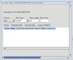 Sql Server Alter Table Change Column Name Oracle Change Column Type Of Oracle Database Table Columns Via The
