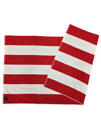 Red White Striped Flag Tw07 Striped Beach Towel