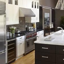 kitchen backsplash ideas with white cabinets houzz 75 beautiful transitional kitchen with brown backsplash