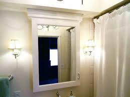 lighted medicine cabinet mirror led lighted recessed medicine cabinet vanity bathroom stunning