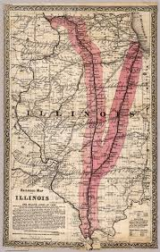 Map Of Il Railroad Map Of Illinois David Rumsey Historical Map Collection