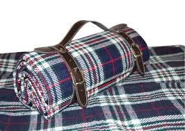 Outdoor Picnic Rug Picnic Blanket With Waterproof Backing And Faux Leather Carry