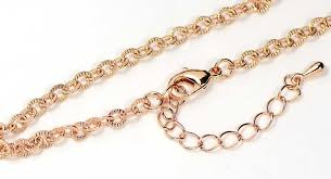 rose gold necklace chains images Rose gold finished textured link necklace chain 18 quot jpg