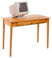 winsome metro studio solid wood computer desk in honey pine