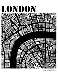 Map Rose Modern London Roserichardsonmapartist
