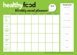 easy weekly meal planner and shopping list healthy food guide