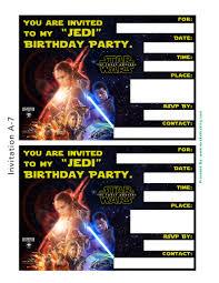 star wars birthday invitation template star wars birthday