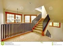 staircase with metal railing new luxury home interior royalty