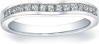 contour wedding band vatche channel set princess cut contoured wedding band 210