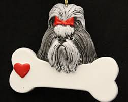 shih tzu ornament etsy