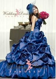 blue wedding dresses royal blue wedding dress