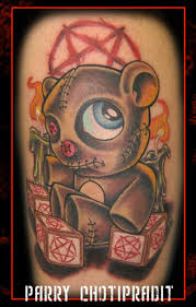 evil teddy bear tattoo design tattoos book
