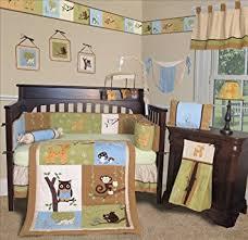 amazon com sisi baby bedding forest friends 13 pcs crib
