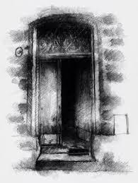 one of my sketch a day drawings old pub door door drawing