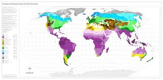 World Map 1980 Bioclimatic U0026 Biogeographic Maps