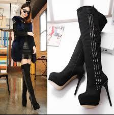 womens boots knee high aliexpress com buy knee high heel boots winter