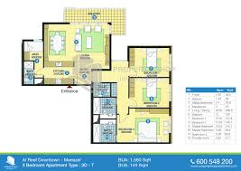Apartment Blueprints Floor Plan Of Al Reef Downtown Al Reef Village