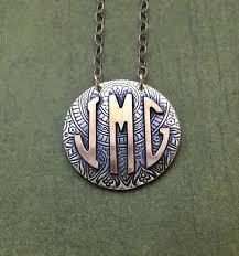 Monogram Jewlery Dimensional Monogram Letter Necklace Custom Jewelry Heidijhale