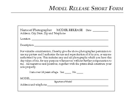 model release form template free talent release form template