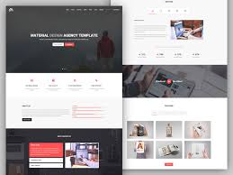 Resume Portfolio Template Matx Material Design Agency Template By Coderpixel Dribbble