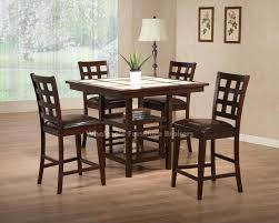 wylie counter height dining room set with brown chairs counter