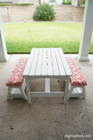 Make Your Own Picnic Table Bench by Kid U0027s Picnic Table Makeover Picnic Tables Paint Furniture And
