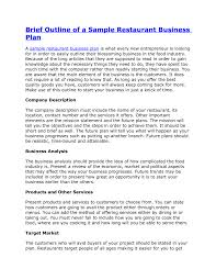restaurant business plan template free business plan cmerge