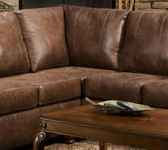 Leather Like Sofa Classic Brown Sectional Brown Smokey Leather Like Microfiber