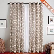 Moroccan Inspired Curtains Amazon Com Curtainworks Kendall Color Block Grommet Curtain Panel