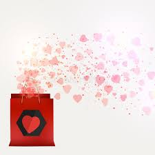 s day shopping s day sale shopping bag with beautiful pink hearts