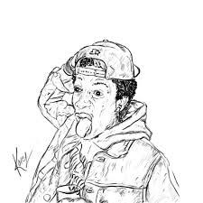sketches for wiz khalifa face sketches www sketchesxo com