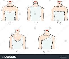 wedding dress necklines dress necklines shapes wedding dress necklines stock vector