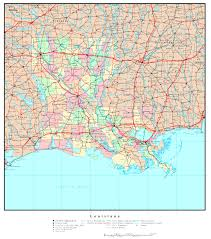 Louisiana Mississippi Map by Louisiana Base Map