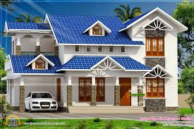 nice sloped roof kerala home design indian house plans home