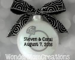 engagement ornament engagement gift or gift with