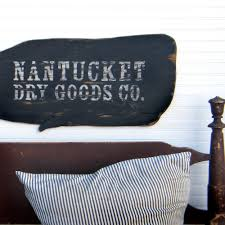 nantucket wooden whale sign nautical vintage inspired whale