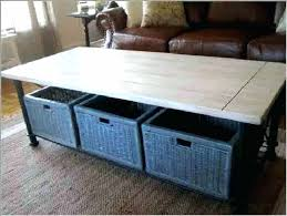coffee table with baskets under coffee table with baskets underneath coffee table basket storage