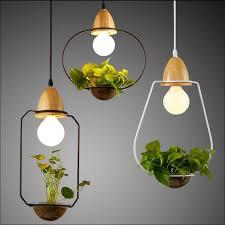 Black Iron Pendant Light Modern Creative Europe Water Plants Hydroponics Glass Iron Pendant