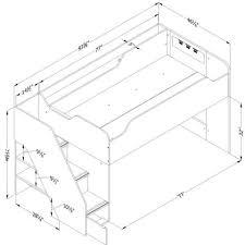 South Shore Imagine Loft Bed South Shore Twin Loft Bed With Trundle And Storage Unit Walmart Com