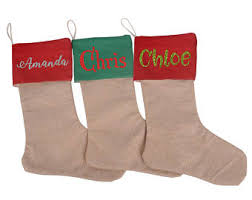 Christmas Stocking Decorations With Glitter by Glitter Stocking Etsy