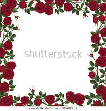 floral arch roses detailed vector illustration stock vector