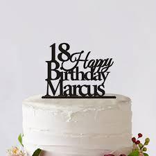 letter cake topper online shop custom cake topper 18 years happy birthday cake topper