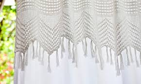 Vintage Style Shower Curtain Vintage Crochet Shower Curtain Off The Cape