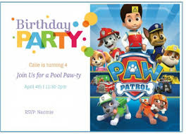 paw patrol birthday invitation wording for your inspiration