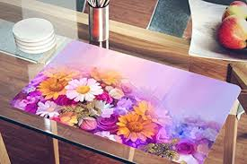 large plastic table mats nish abstract floral painting collection acrylic plastic washable