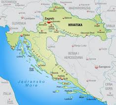 Zagreb Map Croatia The Location Via Croatia Com